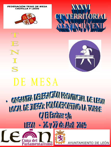 Campeonato territorial alevín y juvenil 27/28 de abril León